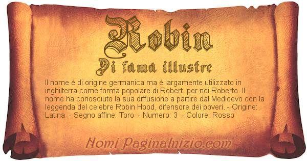 Nome Robin