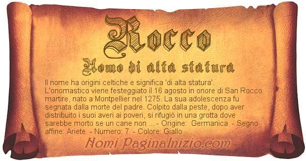 Nome Rocco