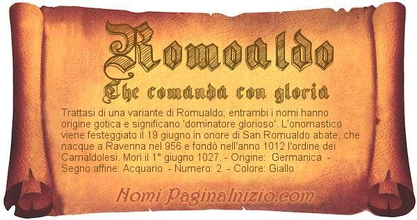 Nome Romoaldo