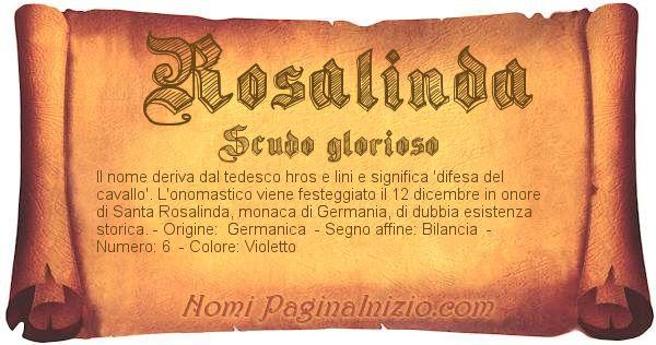 Nome Rosalinda