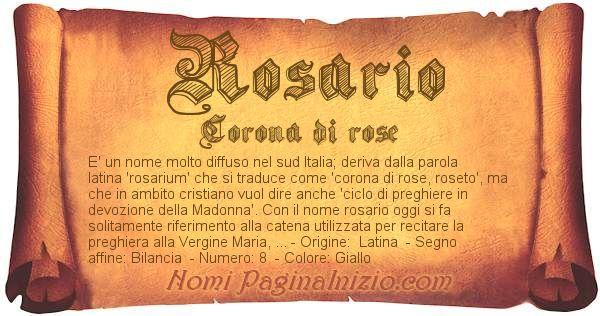 Nome Rosario
