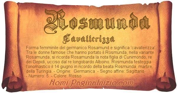 Nome Rosmunda