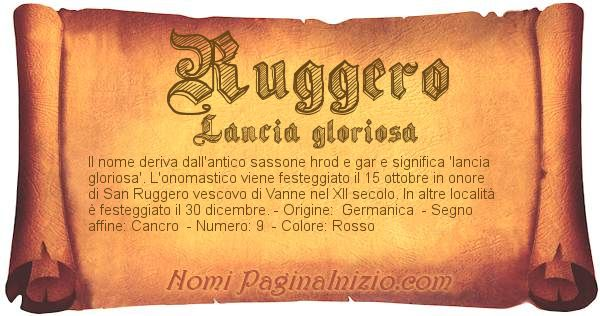 Nome Ruggero