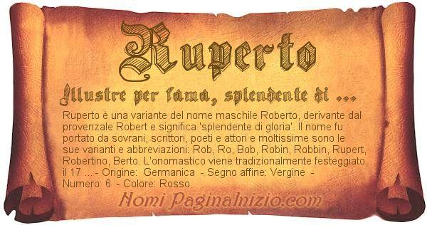 Nome Ruperto