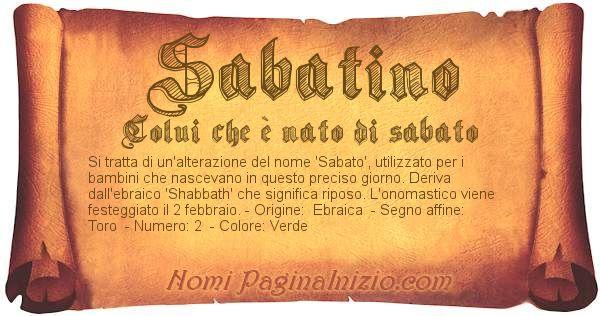 Nome Sabatino