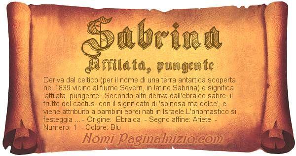 Nome Sabrina