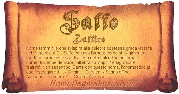 Nome Saffo