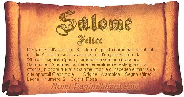 Nome SalomÈ