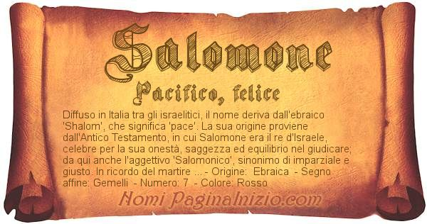 Nome Salomone