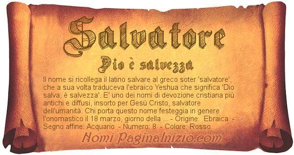 Nome Salvatore