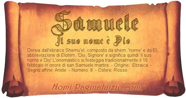 Nome Samuele