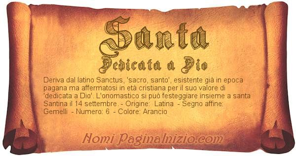 Nome Santa