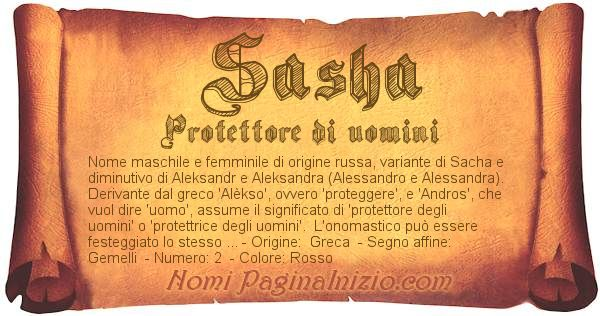 Nome Sasha