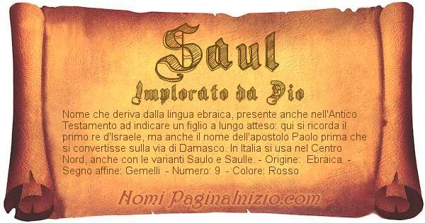 Nome Saul
