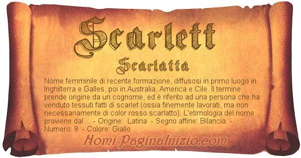 Nome Scarlett