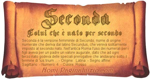 Nome Seconda