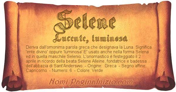 Nome Selene