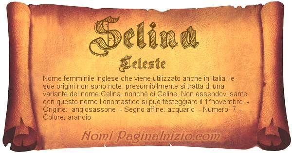 Nome Selina