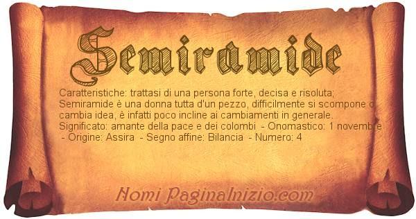 Nome Semiramide