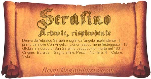 Nome Serafino