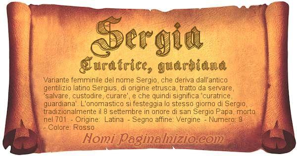 Nome Sergia