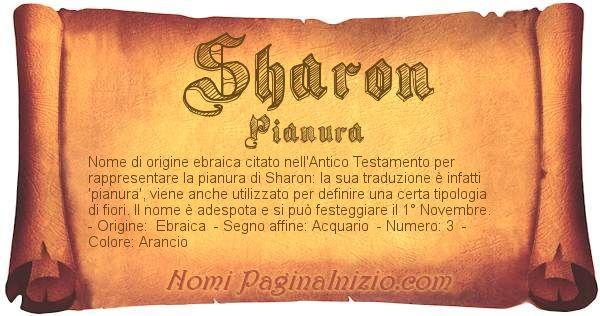 Nome Sharon