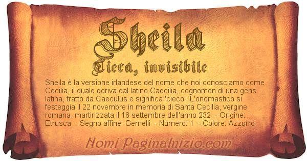 Nome Sheila