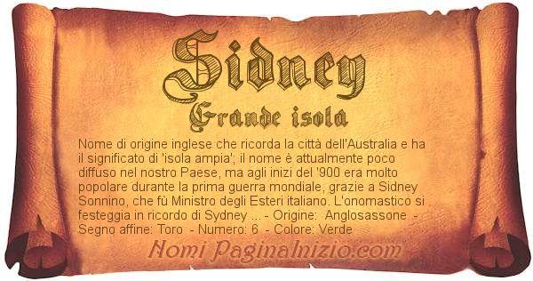 Nome Sidney
