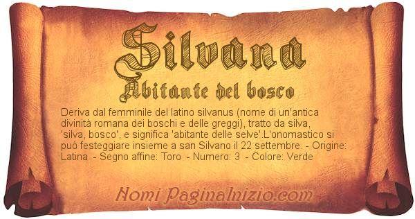 Nome Silvana
