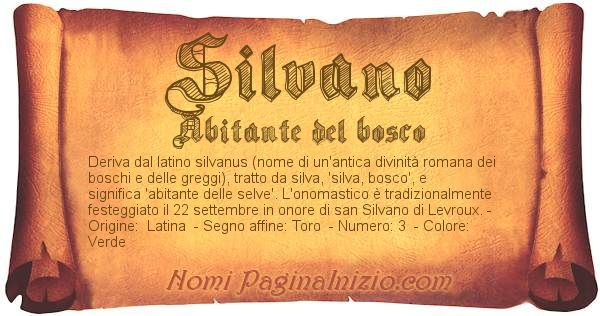 Nome Silvano