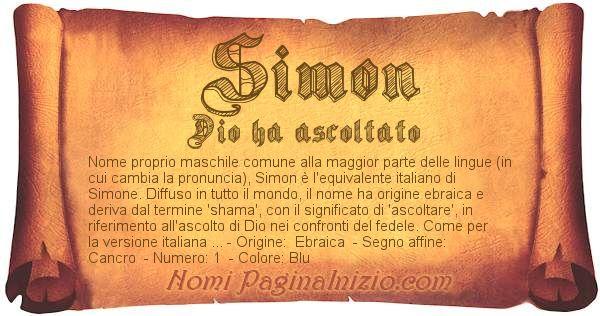 Nome Simon
