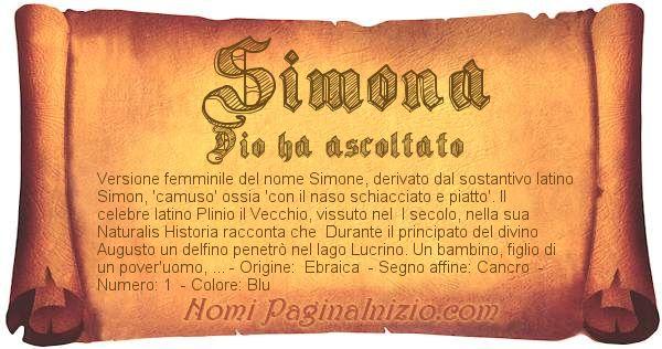 Nome Simona