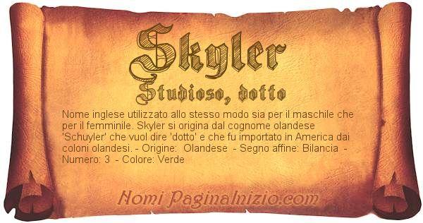 Nome Skyler