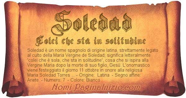 Nome Soledad