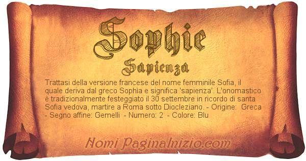 Nome Sophie