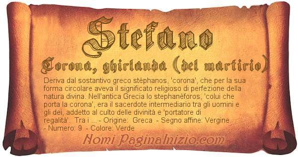 Nome Stefano
