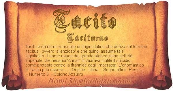 Nome Tacito