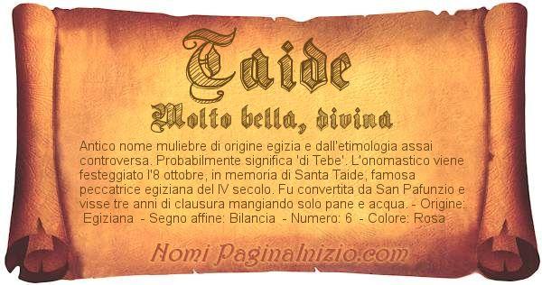 Nome Taide