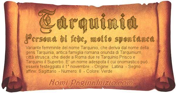 Nome Tarquinia