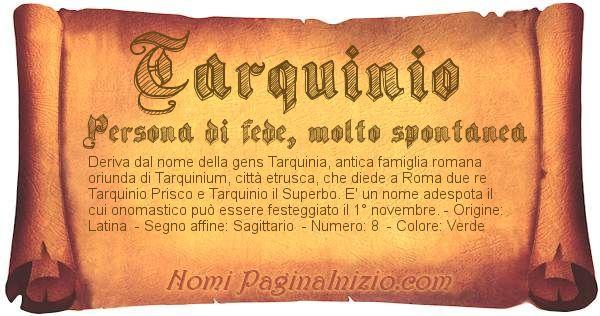 Nome Tarquinio