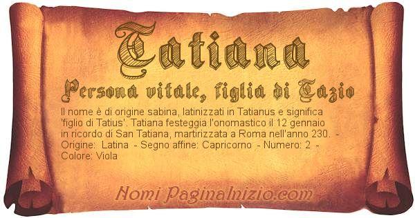 Nome Tatiana