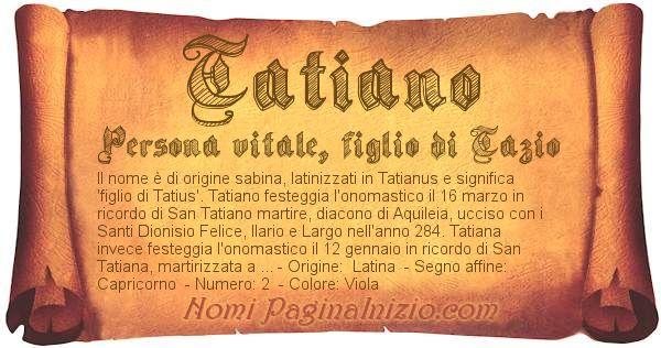 Nome Tatiano