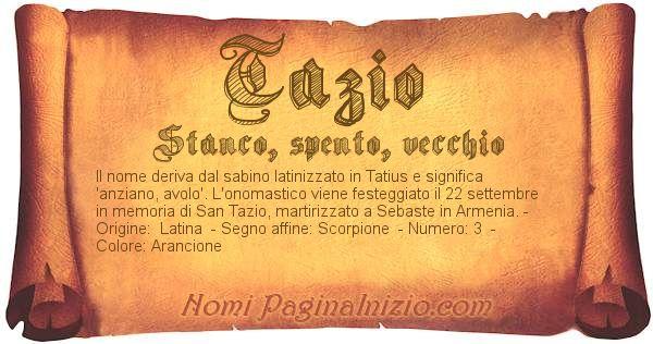 Nome Tazio