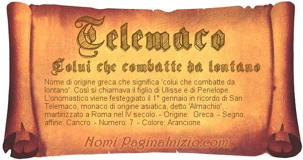 Nome Telemaco