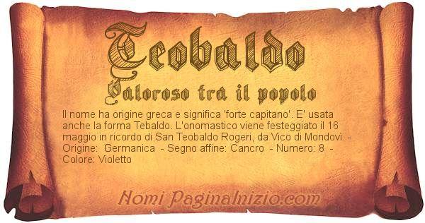 Nome Teobaldo