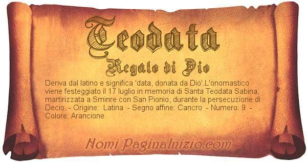 Nome Teodata