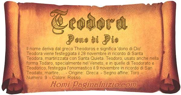 Nome Teodora