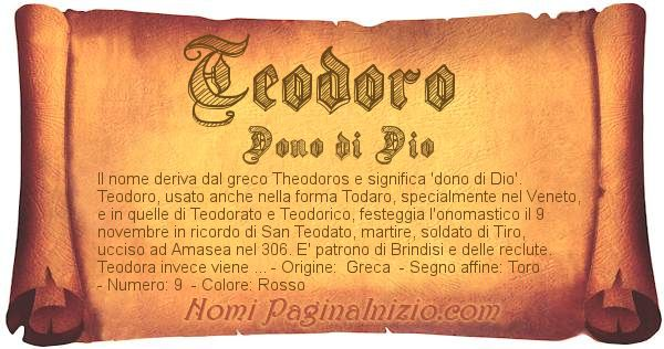 Nome Teodoro