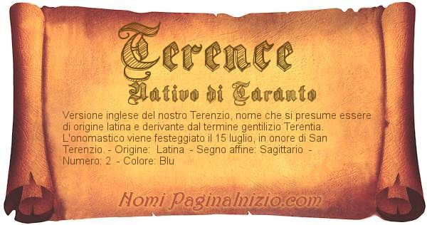 Nome Terence