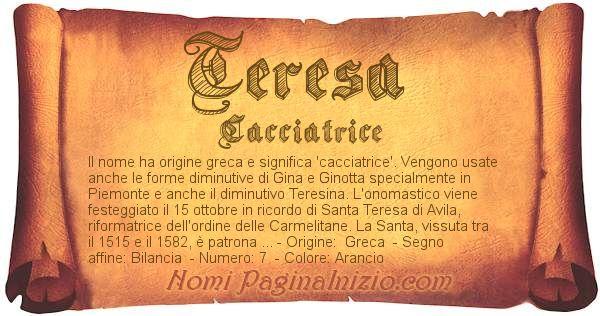 Nome Teresa